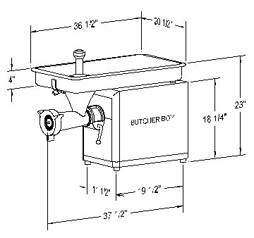 Butcher Boy Meat Grinder TCA32 (Meat & Food Equipment / Equipment By ...