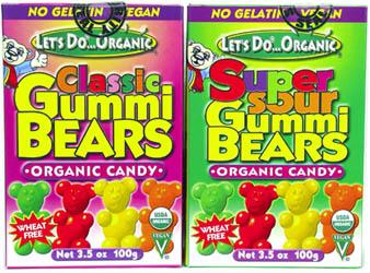 Organic Vegan Gummi Bears, $3.39.